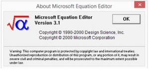 Microsoft Equation Editor v. 2000