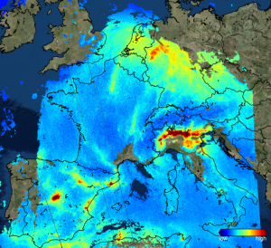 Sentinel-5P e la cappa di biossido d'azioto sull' Europa