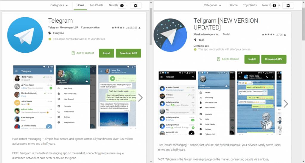 Teligram e Telegram scam da www.belabs.it